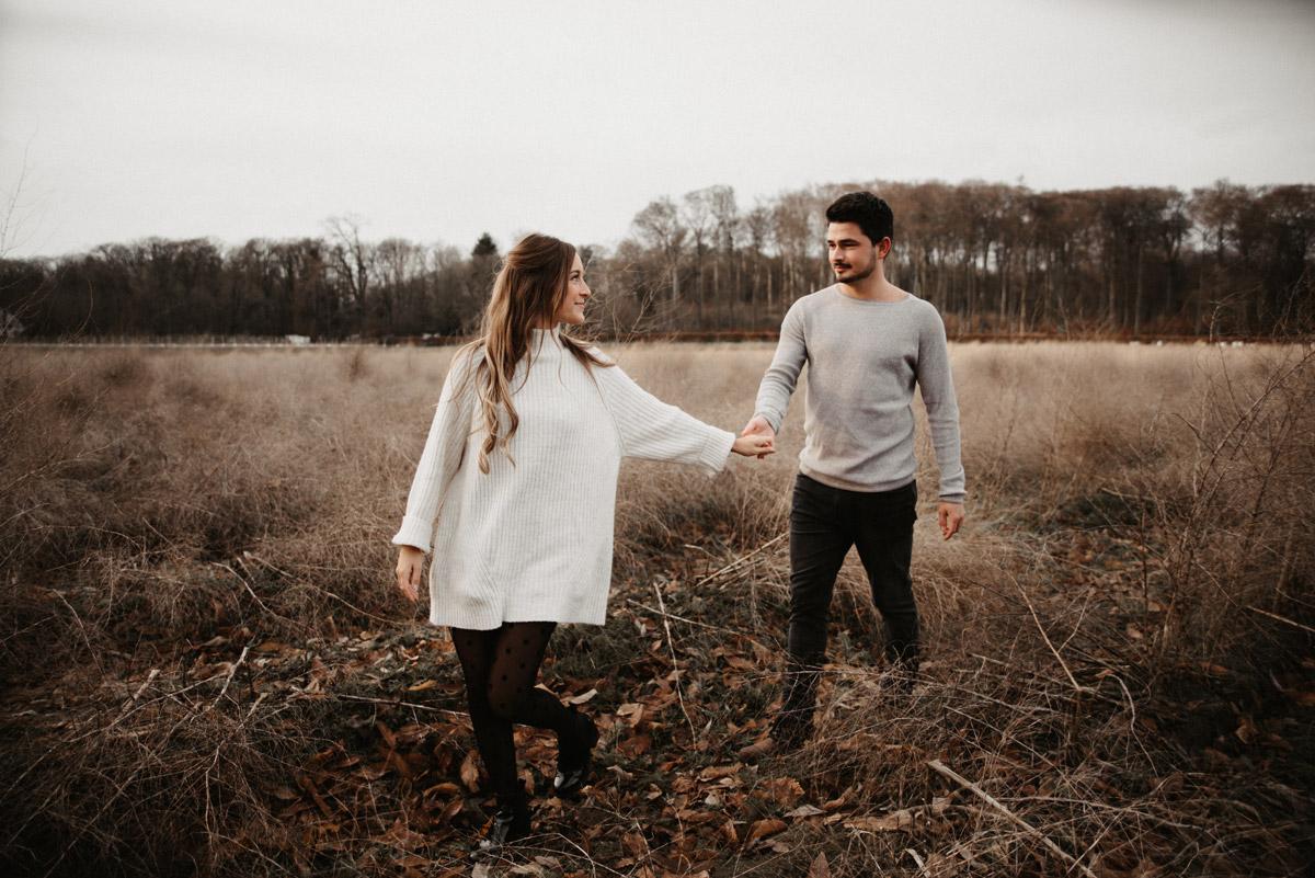 Winterliches Verlobungsshooting